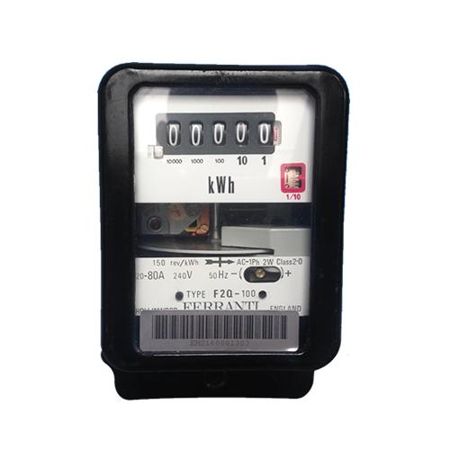 Single Phase Electric Meter : Ferranti f q single phase electric meter great